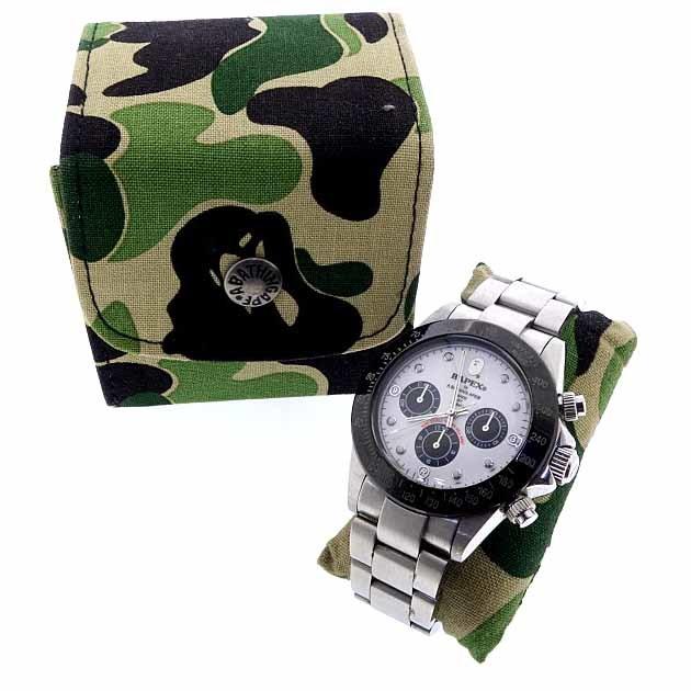 アベイシングエイプ/A BATHING APE BAPEX デイトナ 腕時計 ユニセックス表記なし シルバ