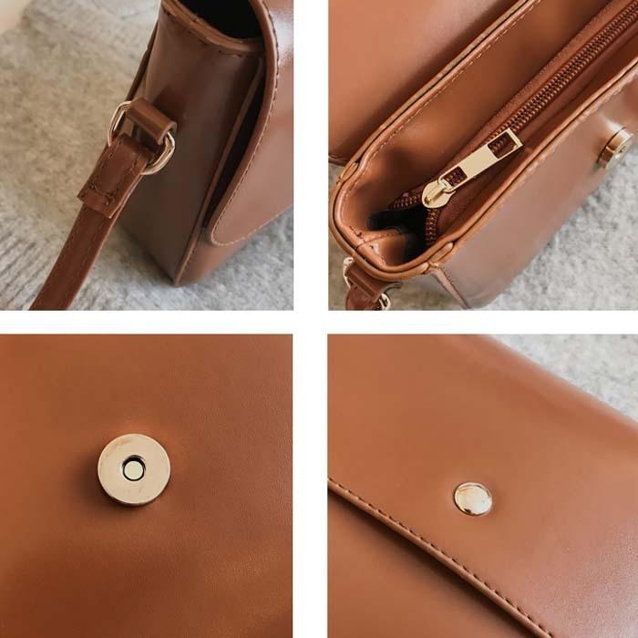 TB105即決 新品 バッグ ショルダー ショルダーバッグ 茶 ブラウン 斜め掛けバッグ 肩掛け 肩掛けバッグ マザーバッグ 軽量 小さい 財布 _画像5