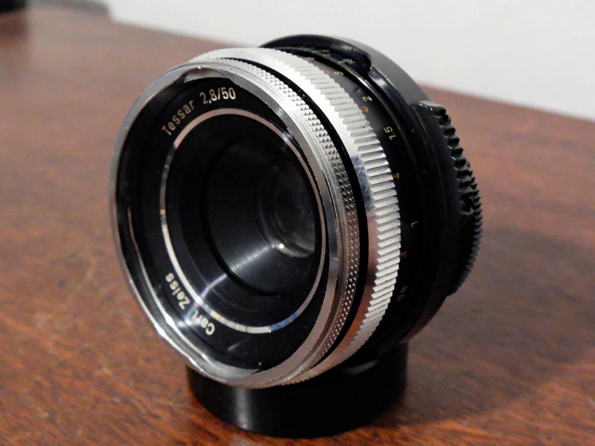 【稀少/ジャンク】カールツァイス テッサー 50mm f2.8〈オーバーコッヘン/M42マウント〉 : Carl Zeiss Tessar 50mm f2.8〈Oberkochen/M42〉_画像4