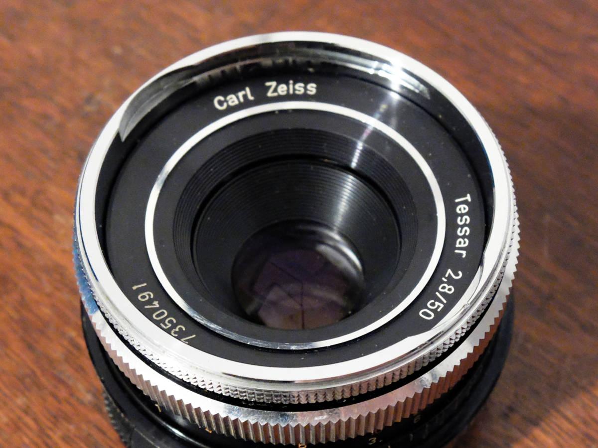 【稀少/ジャンク】カールツァイス テッサー 50mm f2.8〈オーバーコッヘン/M42マウント〉 : Carl Zeiss Tessar 50mm f2.8〈Oberkochen/M42〉_画像2
