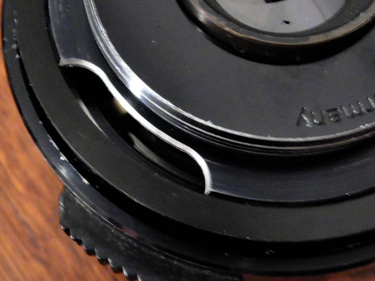 【稀少/ジャンク】カールツァイス テッサー 50mm f2.8〈オーバーコッヘン/M42マウント〉 : Carl Zeiss Tessar 50mm f2.8〈Oberkochen/M42〉_絞り値伝達機構部パーツ欠損
