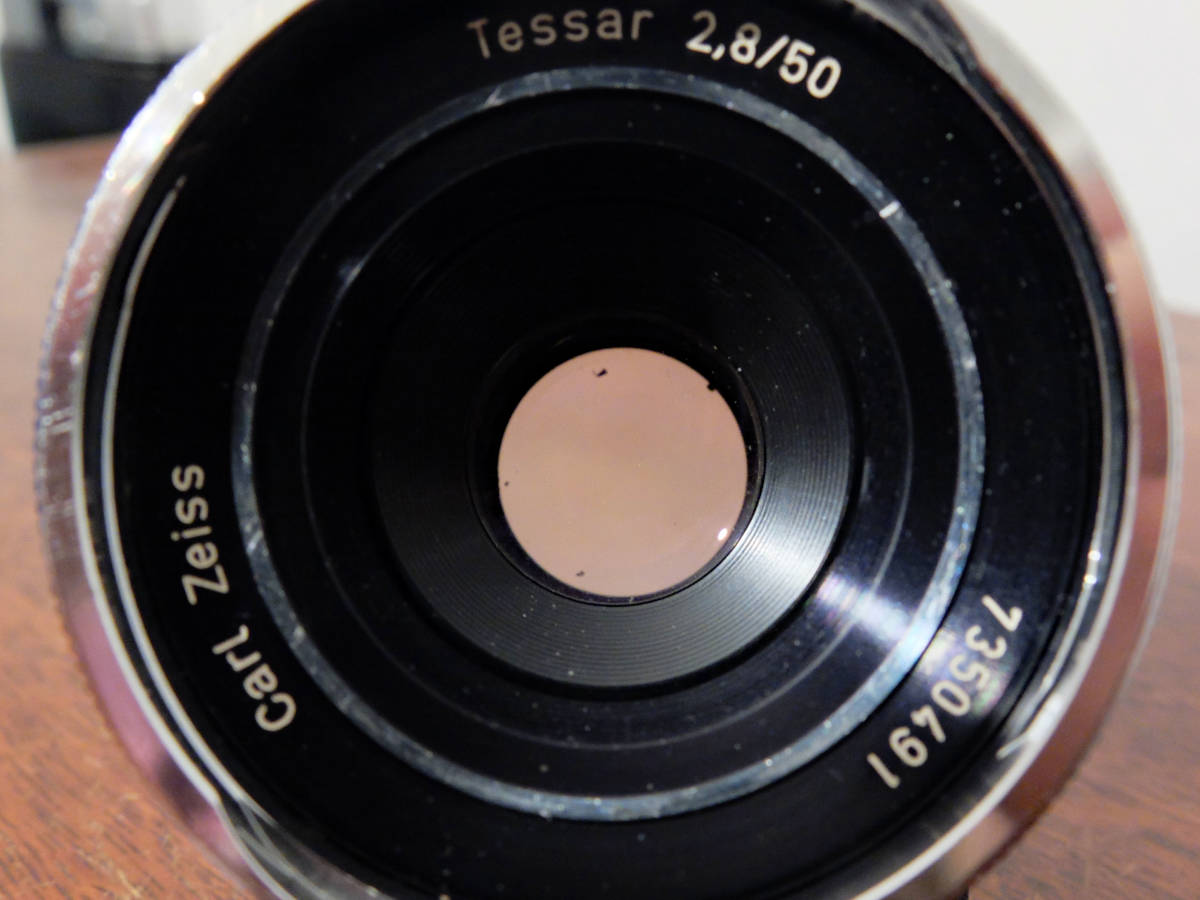 【稀少/ジャンク】カールツァイス テッサー 50mm f2.8〈オーバーコッヘン/M42マウント〉 : Carl Zeiss Tessar 50mm f2.8〈Oberkochen/M42〉_画像9