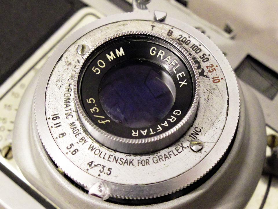 【中古/稀少/ジャンク】グラフレックス シロ35〈グラフター50mm f3.5搭載〉 : Graflex Ciro 35〈with GRAFTAR 50mm f3.5〉_画像6