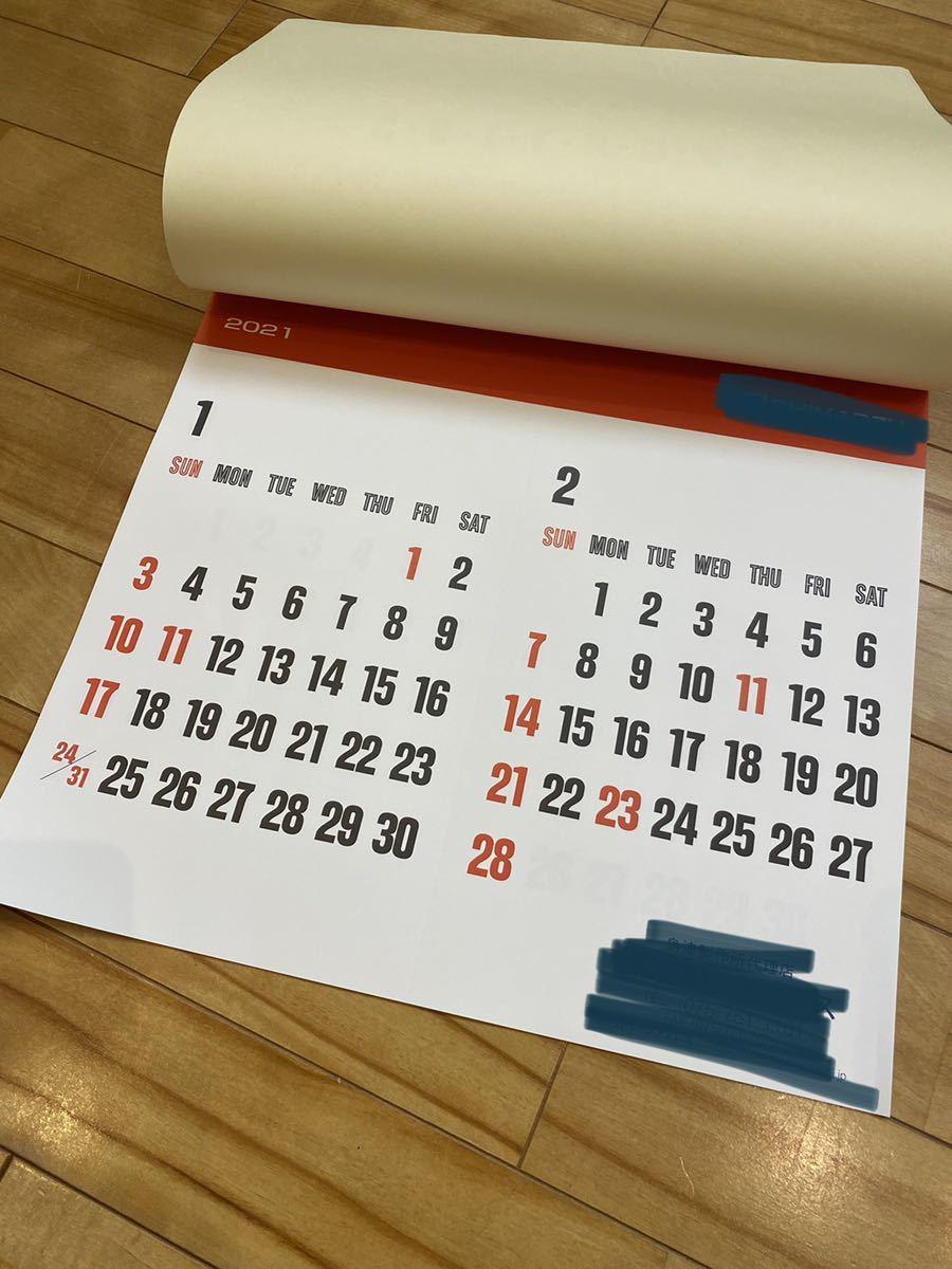 ◇2021年 令和3年 壁掛けカレンダー 企業物 新品 シンプル_画像2