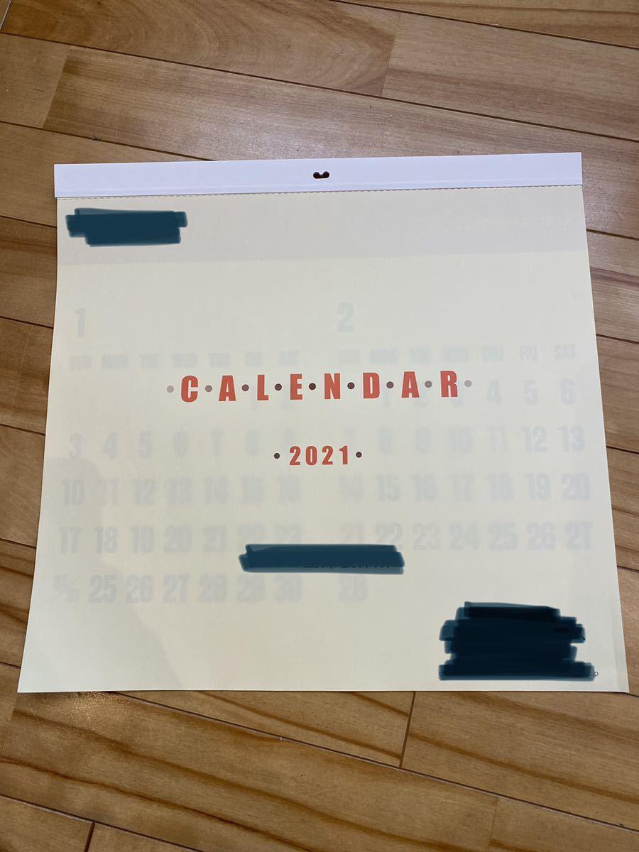 ◇2021年 令和3年 壁掛けカレンダー 企業物 新品 シンプル_画像1