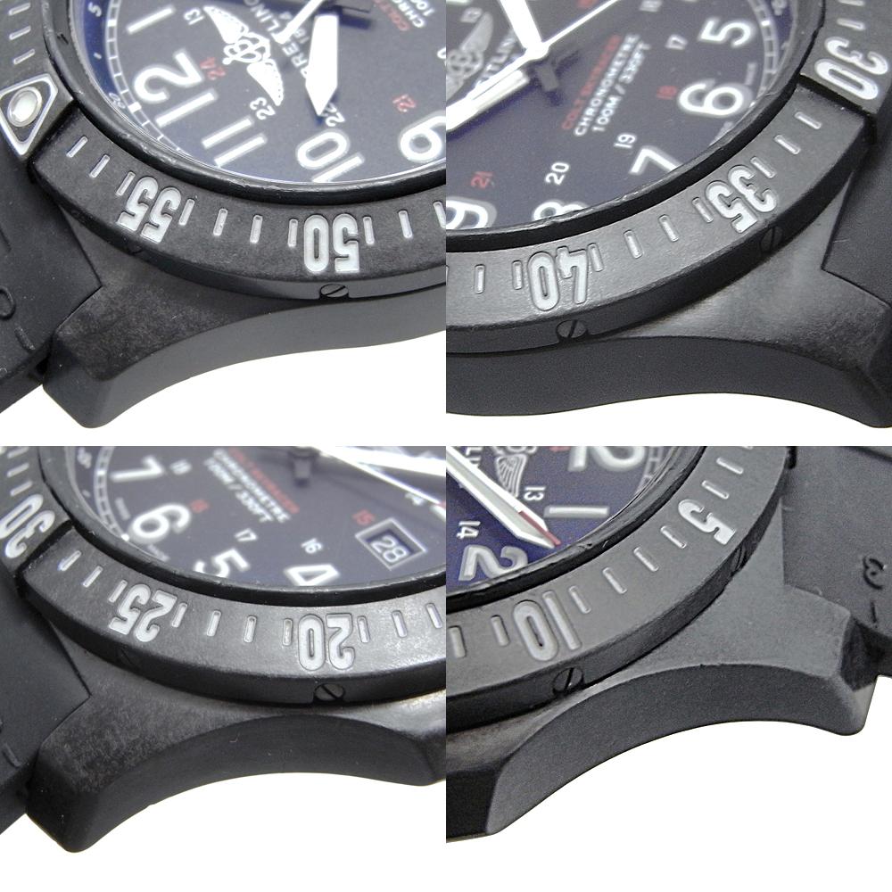 ブライトリング コルト スカイレーサー デイト クォーツ QZ メンズ ブライトライト 黒文字盤 X74320 X74320E4/BF87 BREITLING_画像3