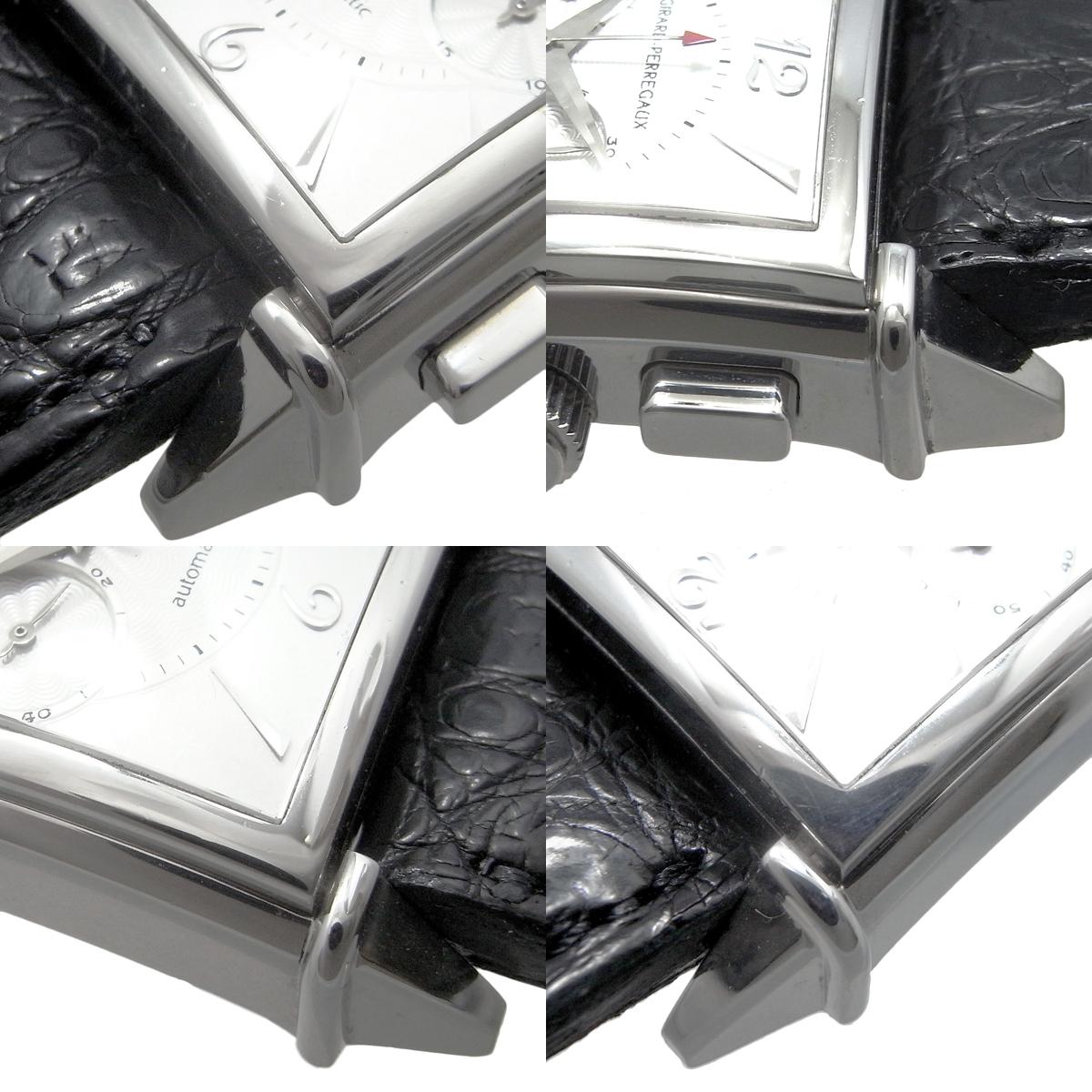 ジラールペルゴ ヴィンテージ 1945 クロノグラフ 100本限定 メンズ 自動巻き オートマ 2597 シルバー文字盤 GP_画像3