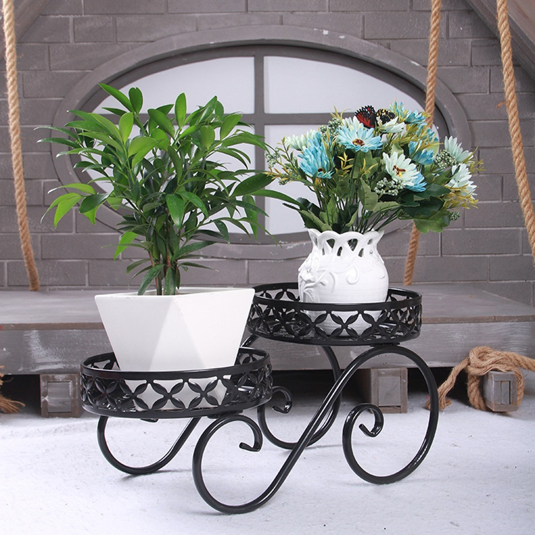 ◆最安にします◆ 掘り出し物 フラワーポットスタンド 植木鉢 観葉植物 多肉植物 庭のDIY AT10283_画像1