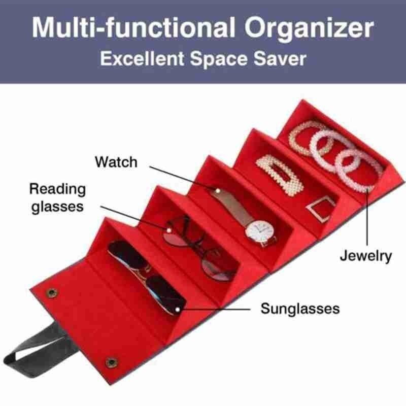 ◆最安にします◆ 眼鏡 収納 ケース コンパクト ボックス 箱 5つ サングラス 旅行 トレイ 老眼鏡 持ち運び 出張 便利 保管 AT10081_画像6