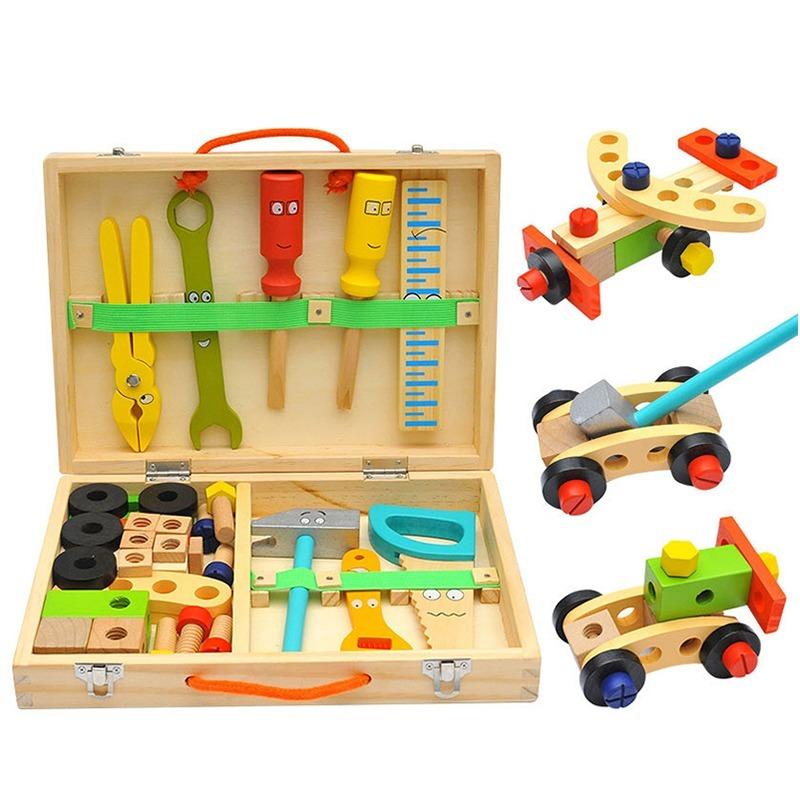 ◆最安にします◆子供用木製おもちゃ 知育玩具 積み木ブロック 椅子工作 組み立て 学習教育 変形 トレーニング 幼児 幼稚園学習 AT10571_画像6
