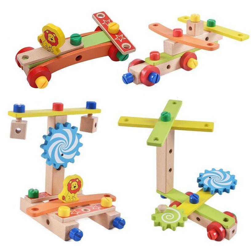 ◆最安にします◆子供用木製おもちゃ 知育玩具 積み木ブロック 椅子工作 組み立て 学習教育 変形 トレーニング 幼児 幼稚園学習 AT10571_画像5