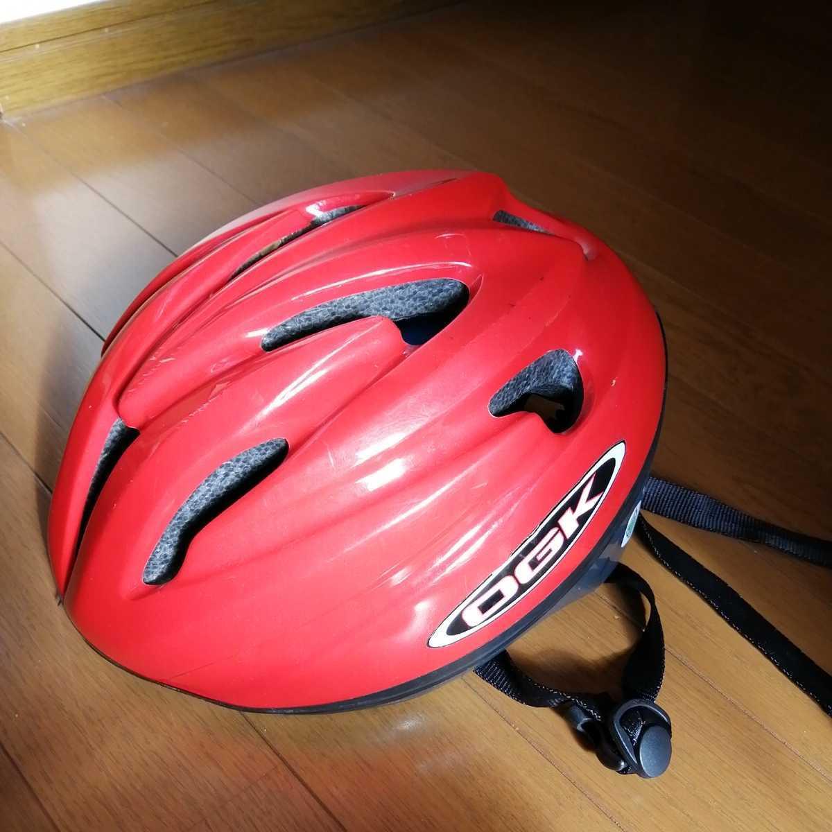 OGK 子ども用 ヘルメット 赤 52~56cm 4~8歳 自転車 三輪車_画像1