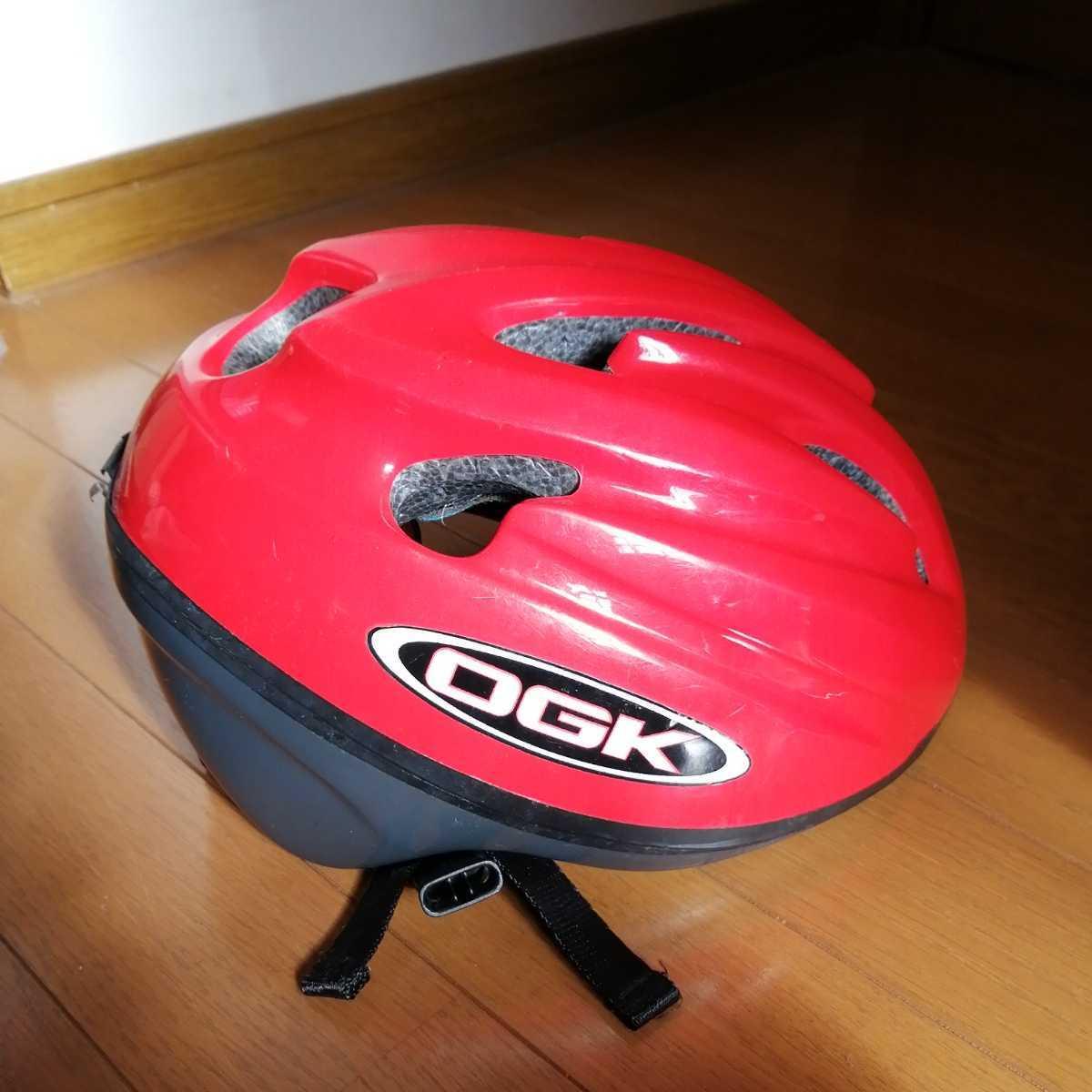 OGK 子ども用 ヘルメット 赤 52~56cm 4~8歳 自転車 三輪車_画像3