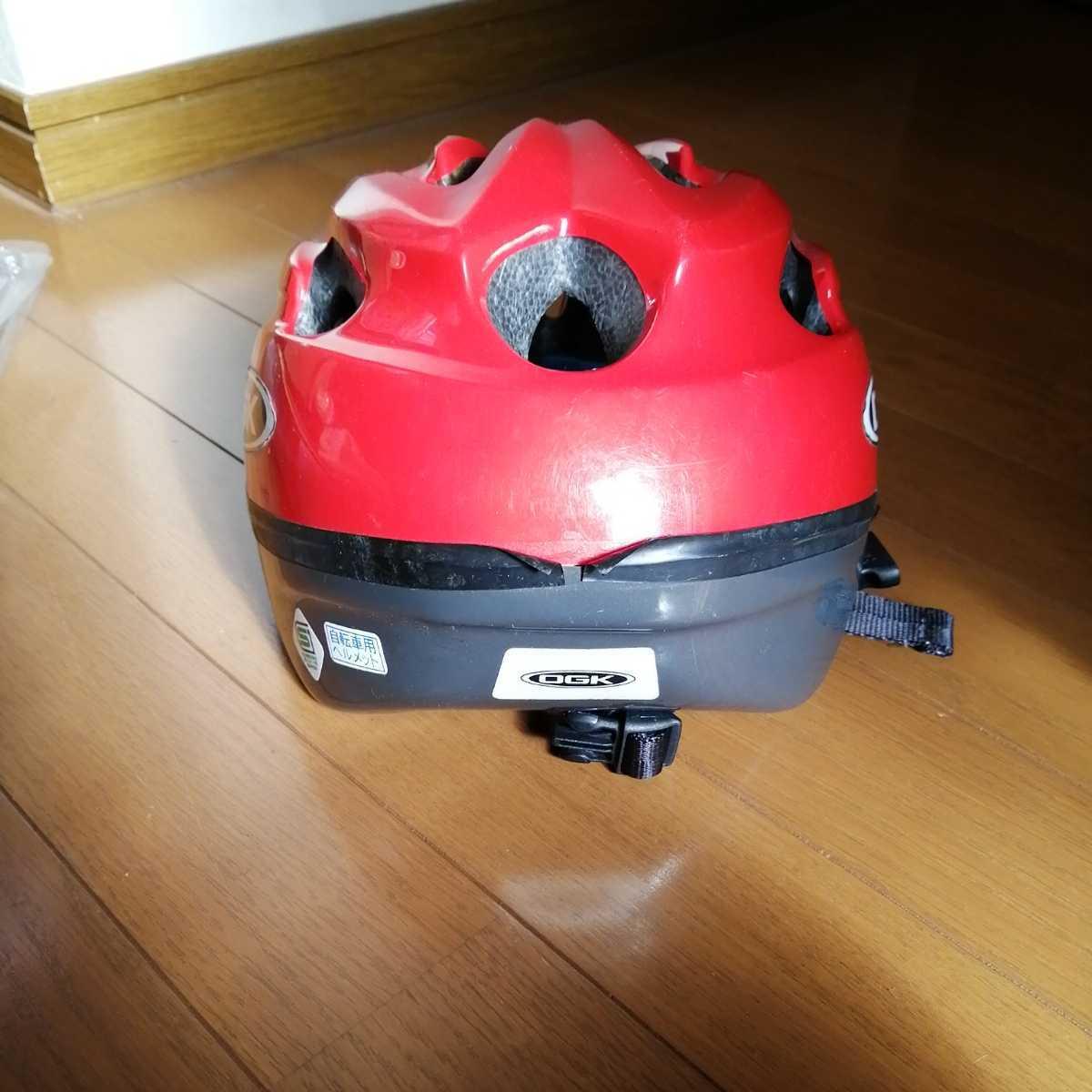 OGK 子ども用 ヘルメット 赤 52~56cm 4~8歳 自転車 三輪車_画像4