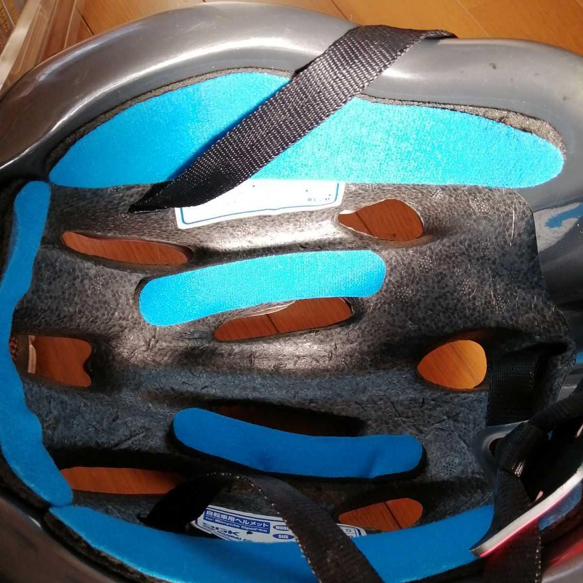 OGK 子ども用 ヘルメット 赤 52~56cm 4~8歳 自転車 三輪車_画像7