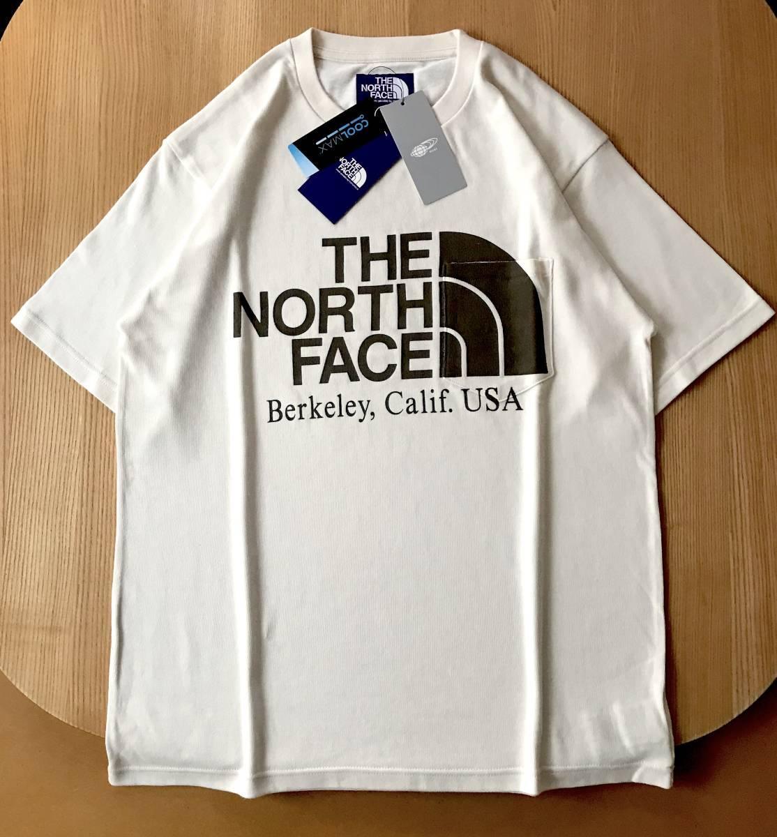 別注 限定色★ THE NORTH FACE PURPLE LABEL 別注 BEAMS BOY / ベージュ / L / H/S Logo Pocket Tee ノースフェイス ビームス Tシャツ_画像1