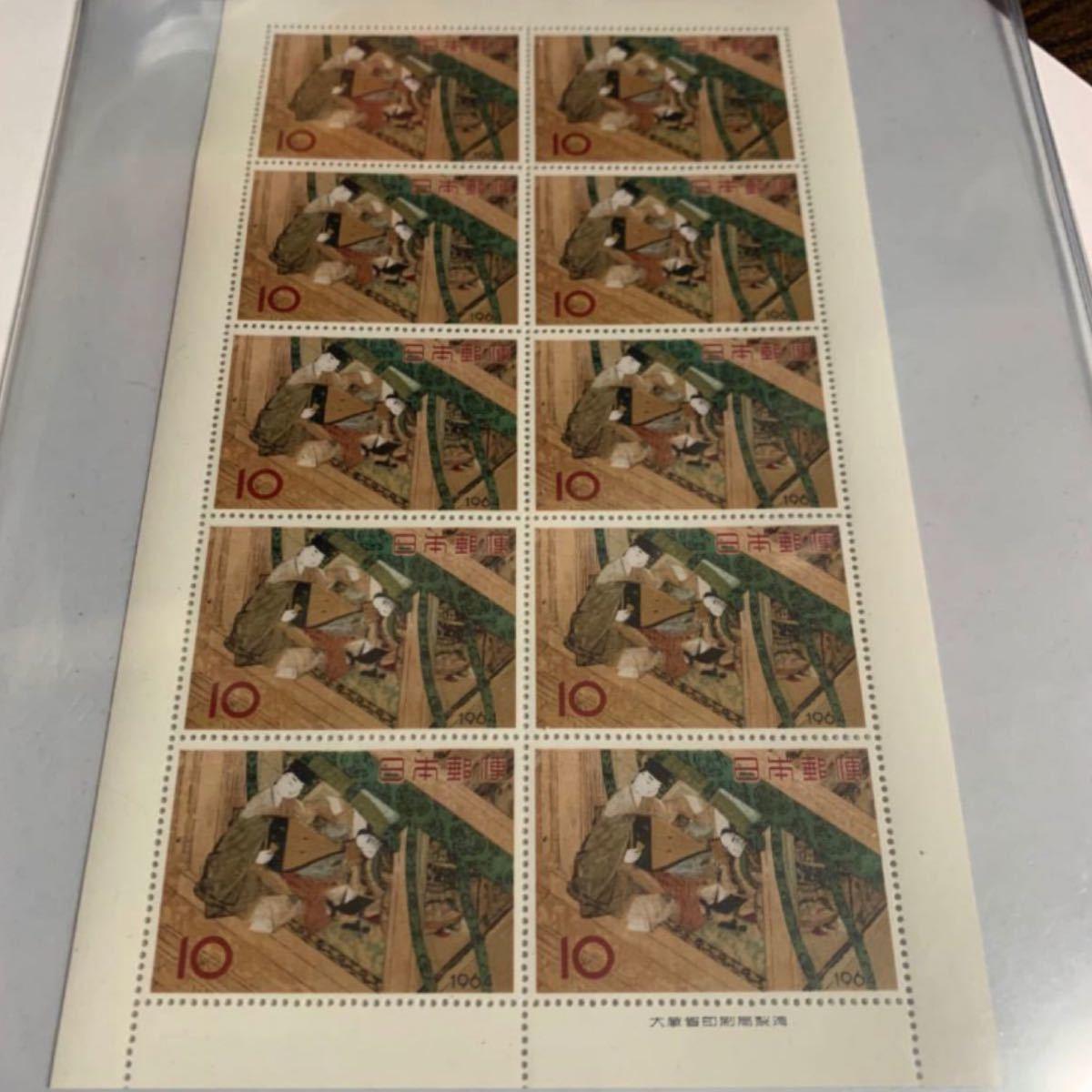 切手趣味週間 源氏物語  昭和39年  切手 日本切手 切手シート 記念切手