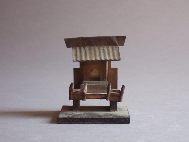 逸品珍品小型ブリキ(真鍮)厨子民間信仰古民藝古道具坂田鉄の古民藝