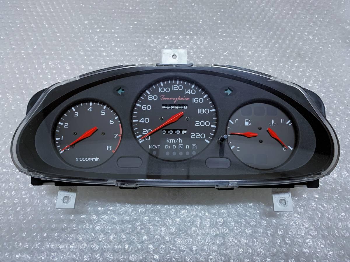 Tommy kaira トミーカイラ 220キロ フルスケール スピード メーター パネル 24810-0U073 EF 785-340 日産 マーチ K11 AT インテリア ニスモ