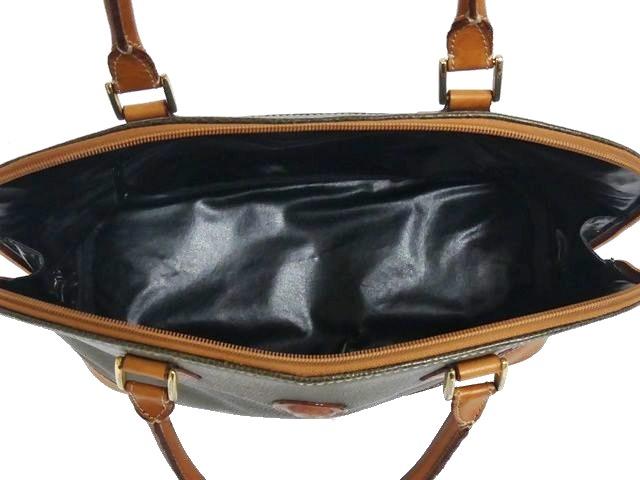 即決★BELLE★レザーコンビハンドバッグ ベル メンズ 緑 カーキ 本革 トートバッグ 本皮 かばん 鞄 レディース 手提げかばん 手提げバッグ_画像8
