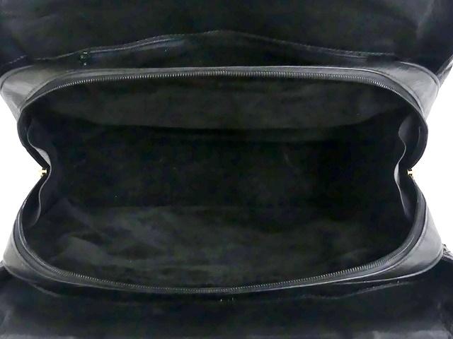 即決★N.B.★レザーハンドバッグ パッチワーク メンズ 黒 オーストリッチ型押し 本革 トートバッグ 本皮 かばん レディース 手提げバッグ_画像8