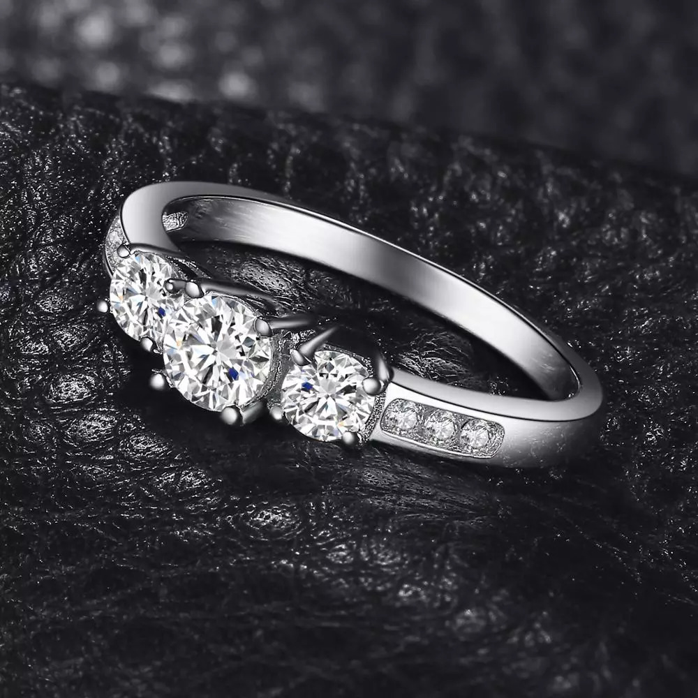 Jewelrypalace 3石cz婚約指輪925スターリングシルバーリング女性用周年記念リング結婚指輪シルバー925ジュエリー_画像3