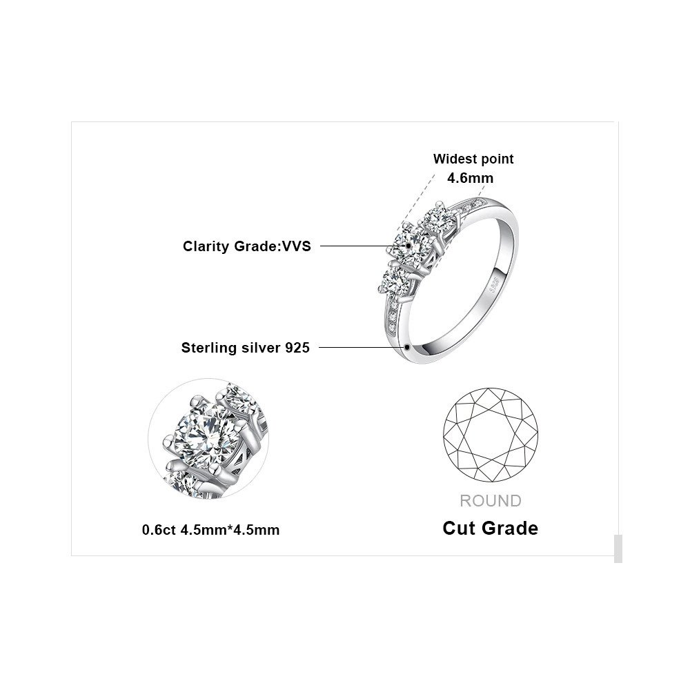Jewelrypalace 3石cz婚約指輪925スターリングシルバーリング女性用周年記念リング結婚指輪シルバー925ジュエリー_画像5