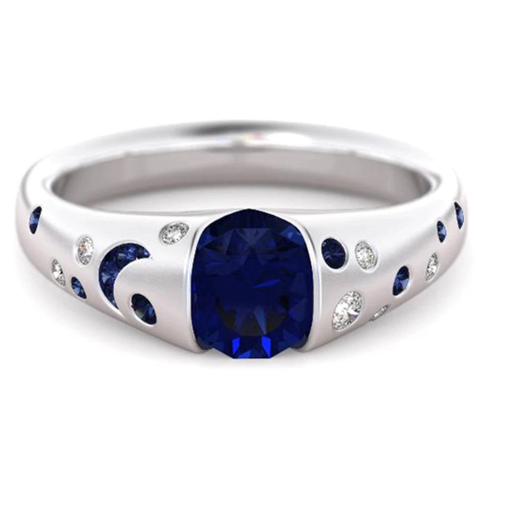 ファッション女性リングクラシック結婚指輪女性多色ラインクリスタルリング女性のためのジュエリー記念ギフト_画像9
