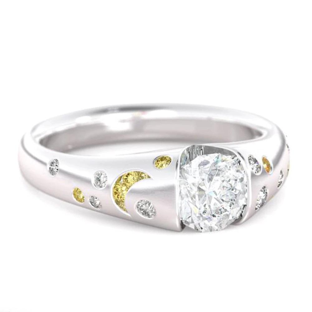 ファッション女性リングクラシック結婚指輪女性多色ラインクリスタルリング女性のためのジュエリー記念ギフト_画像10