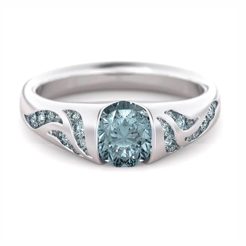 ファッション女性リングクラシック結婚指輪女性多色ラインクリスタルリング女性のためのジュエリー記念ギフト_画像1