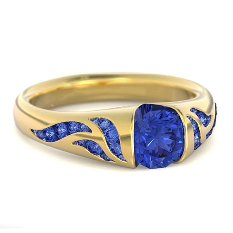 ファッション女性リングクラシック結婚指輪女性多色ラインクリスタルリング女性のためのジュエリー記念ギフト_画像4