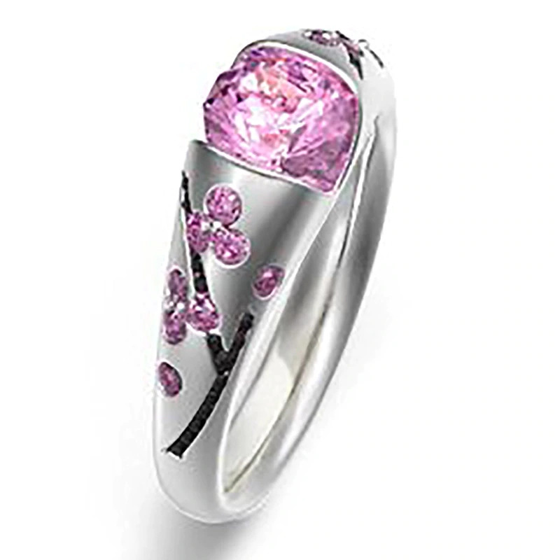 ファッション女性リングクラシック結婚指輪女性多色ラインクリスタルリング女性のためのジュエリー記念ギフト_画像5