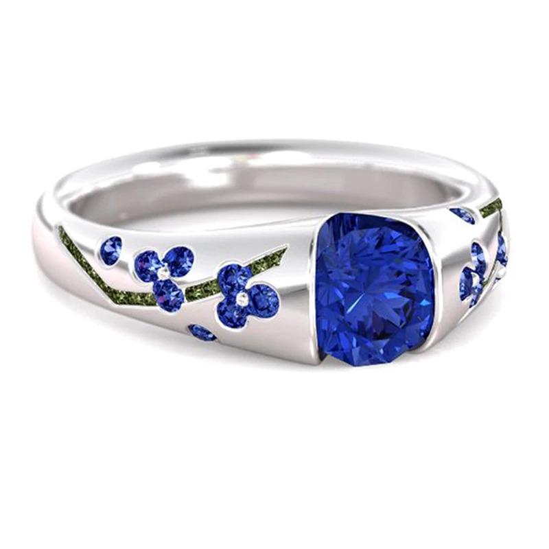 ファッション女性リングクラシック結婚指輪女性多色ラインクリスタルリング女性のためのジュエリー記念ギフト_画像8