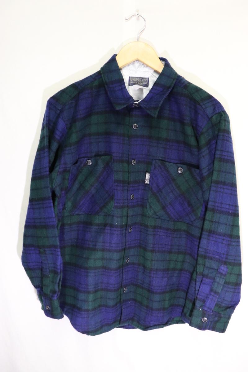 【メンズ】【良品保証返品OK】EDWINウールシャツ/アメカジタータンマドラスM_画像2