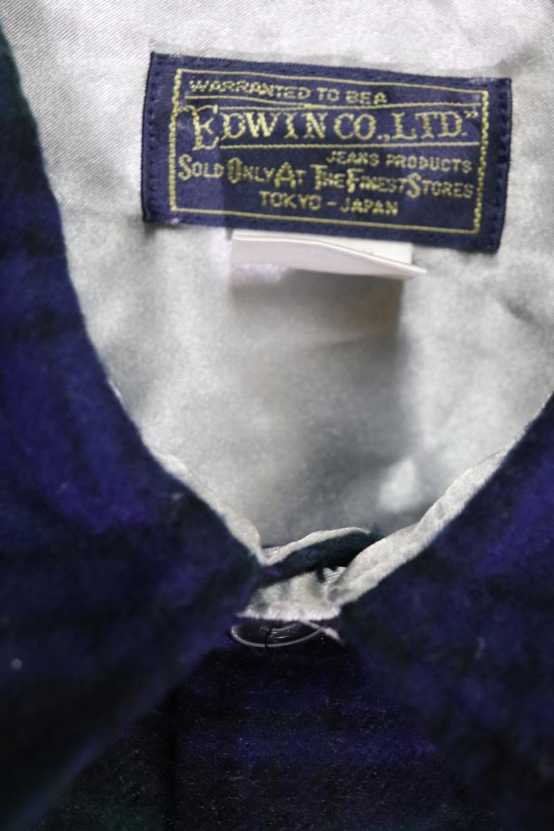 【メンズ】【良品保証返品OK】EDWINウールシャツ/アメカジタータンマドラスM_画像4