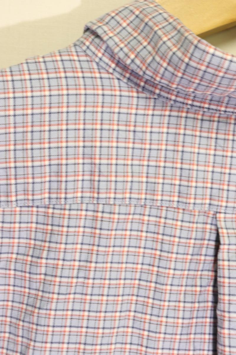 【メンズ】【良品保証返品OK】ラルフローレンチェックBD長袖シャツブルーグレイ/トラッドL_画像6