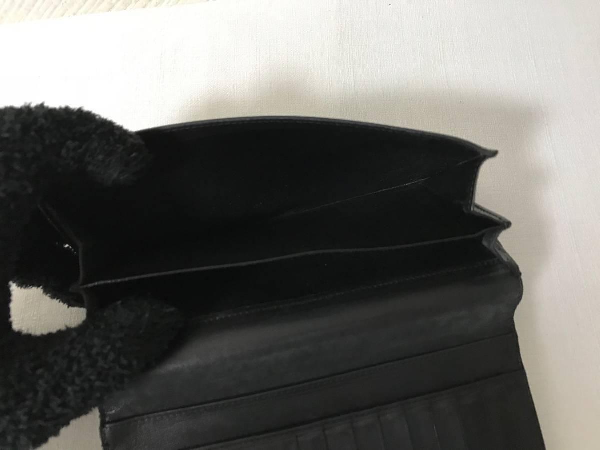 本物ボッテガヴェネタBottegaVeneta本革レザー編込み二つ折り長財布サイフ札入れ黒ブラック旅行トラベルビジネスメンズレディース