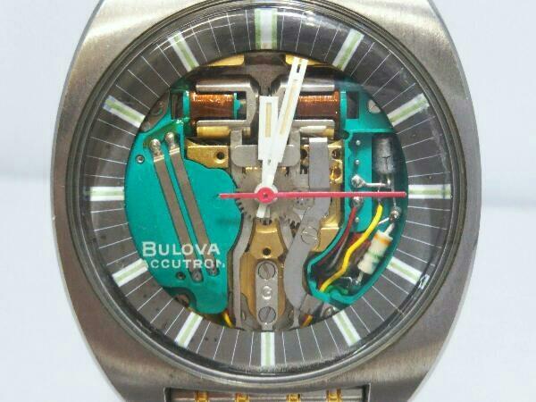 [ジャンク] ブローバ アキュトロン BULOVA ACCUTRON 音叉時計 動作未確認 スケルトン文字盤 メンズ腕時計 _画像1