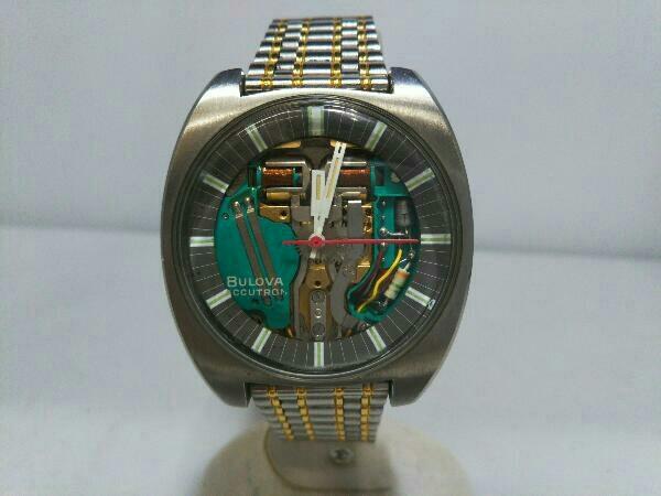 [ジャンク] ブローバ アキュトロン BULOVA ACCUTRON 音叉時計 動作未確認 スケルトン文字盤 メンズ腕時計 _画像2