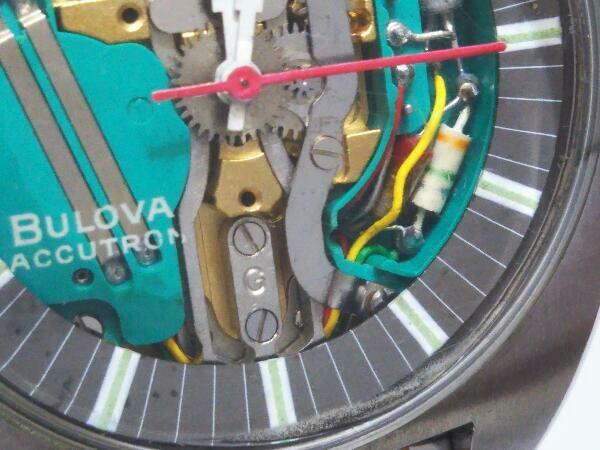[ジャンク] ブローバ アキュトロン BULOVA ACCUTRON 音叉時計 動作未確認 スケルトン文字盤 メンズ腕時計 _画像4