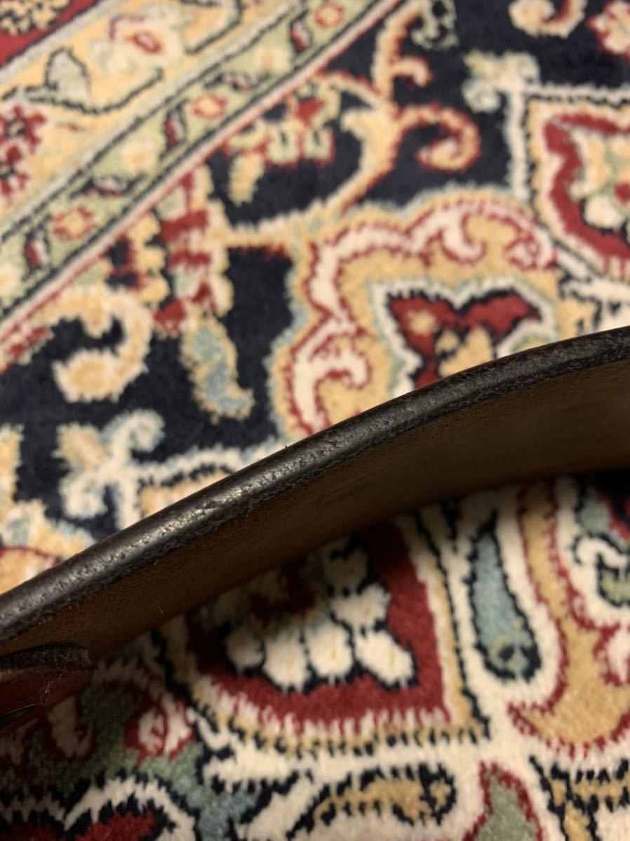 オリジナル uk サドルレザー レッド ギャリソン ベルト 8角 ガンメタ バックル 48mm 5mm 厚 w32 w33 クロネコ宅急便着払い_画像10