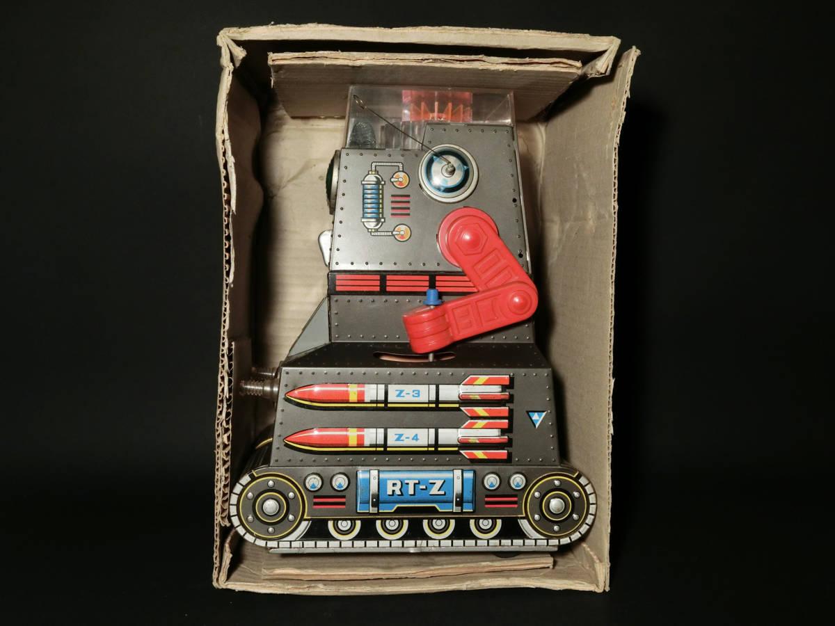 昭和レトロ 野村トーイ製『日本語版トーキングアクション ロボタンクZ(ROBOTANK Z)』箱付 バッテリー/ブリキ玩具/SF/戰車_画像8