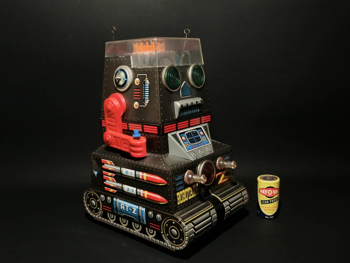 昭和レトロ 野村トーイ製『日本語版トーキングアクション ロボタンクZ(ROBOTANK Z)』箱付 バッテリー/ブリキ玩具/SF/戰車_画像4