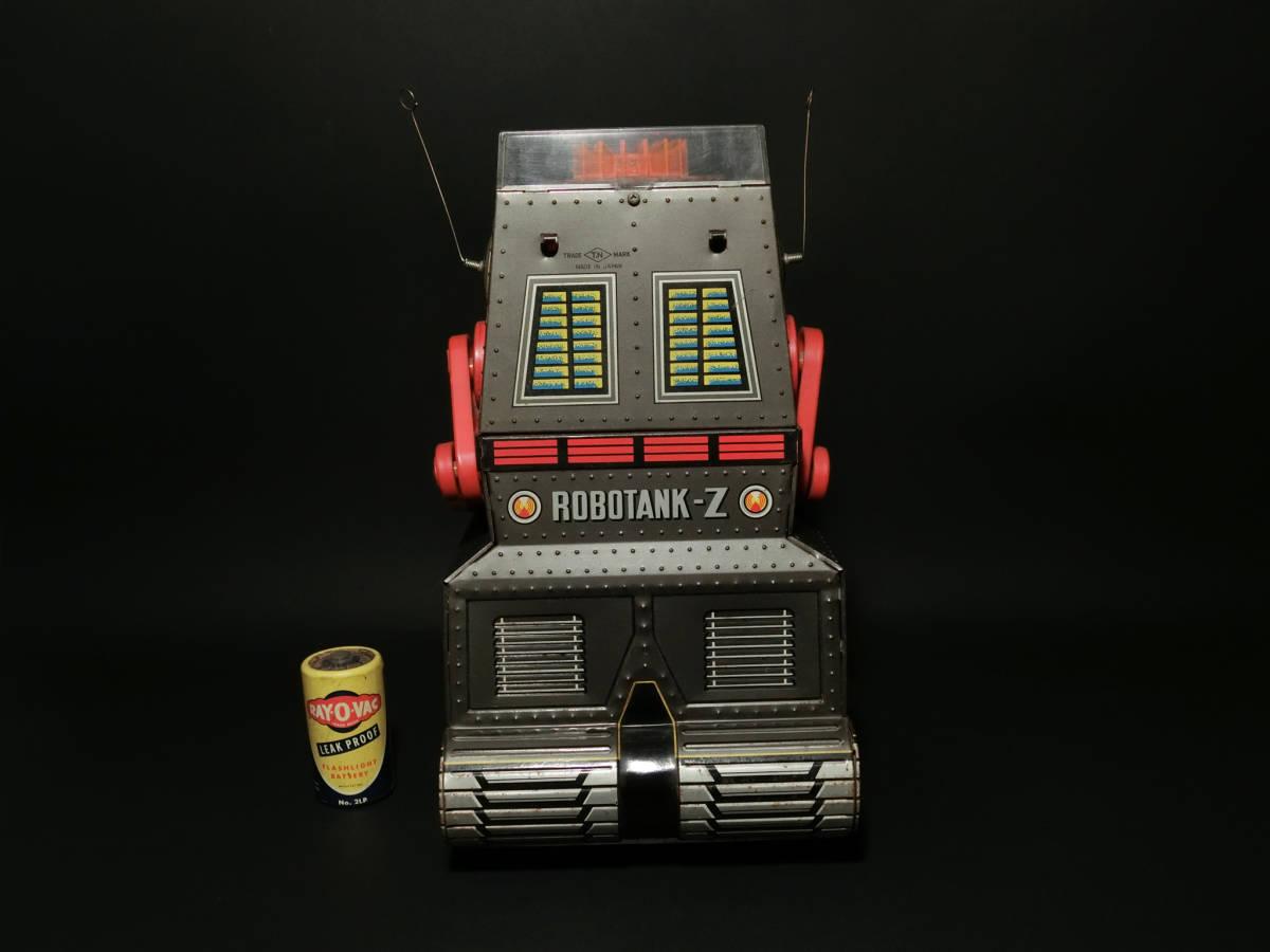 昭和レトロ 野村トーイ製『日本語版トーキングアクション ロボタンクZ(ROBOTANK Z)』箱付 バッテリー/ブリキ玩具/SF/戰車_画像5
