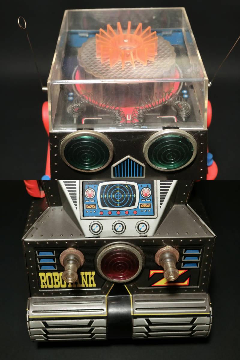 昭和レトロ 野村トーイ製『日本語版トーキングアクション ロボタンクZ(ROBOTANK Z)』箱付 バッテリー/ブリキ玩具/SF/戰車_画像6