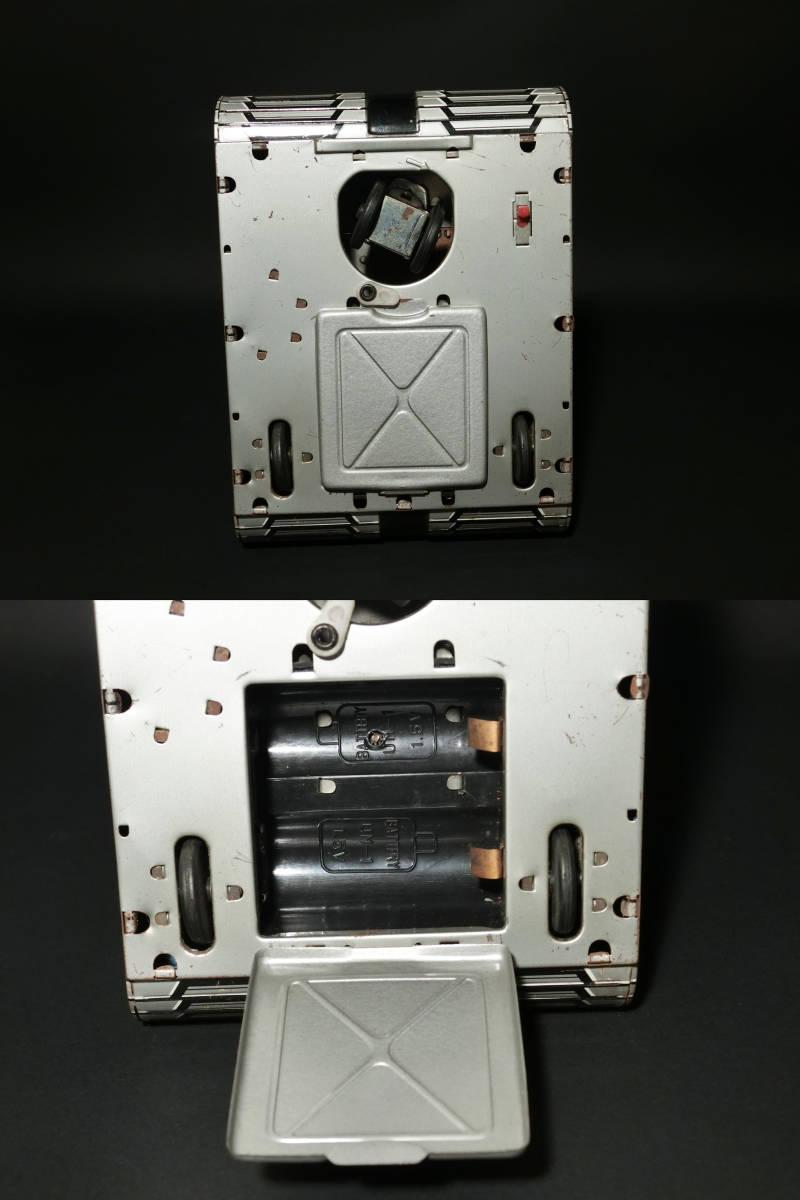 昭和レトロ 野村トーイ製『日本語版トーキングアクション ロボタンクZ(ROBOTANK Z)』箱付 バッテリー/ブリキ玩具/SF/戰車_画像7