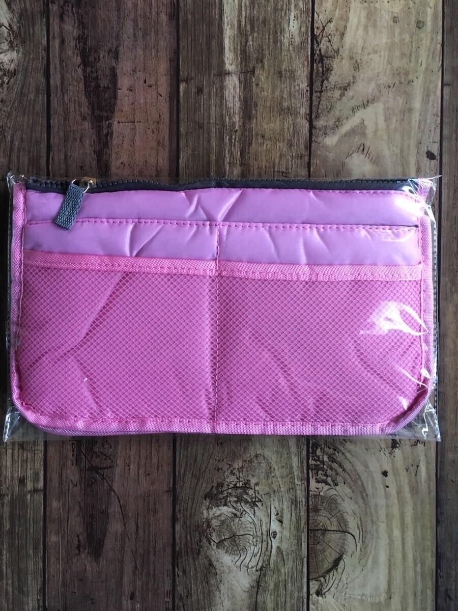 人気 バッグインバッグ 定番 ピンク ポーチ 小物 収納上手 インナーバッグ