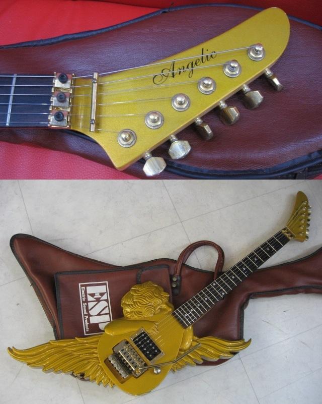◆管MAG-66 ◆即決◆ アルフィー 高見沢モデル ESP ミニ・エンジェルギター 【エンジェリック】★ゴールドタイプ USED 概ね美品