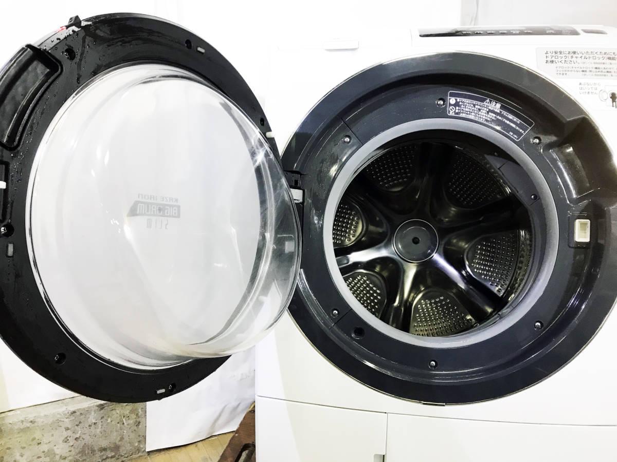 ★送料無料★2017年製★★超美品 中古★日立 10kg「センサービッグドラム洗浄!!」風アイロン搭載 ドラム式洗濯乾燥機【BD-SG100AL】E529_画像6
