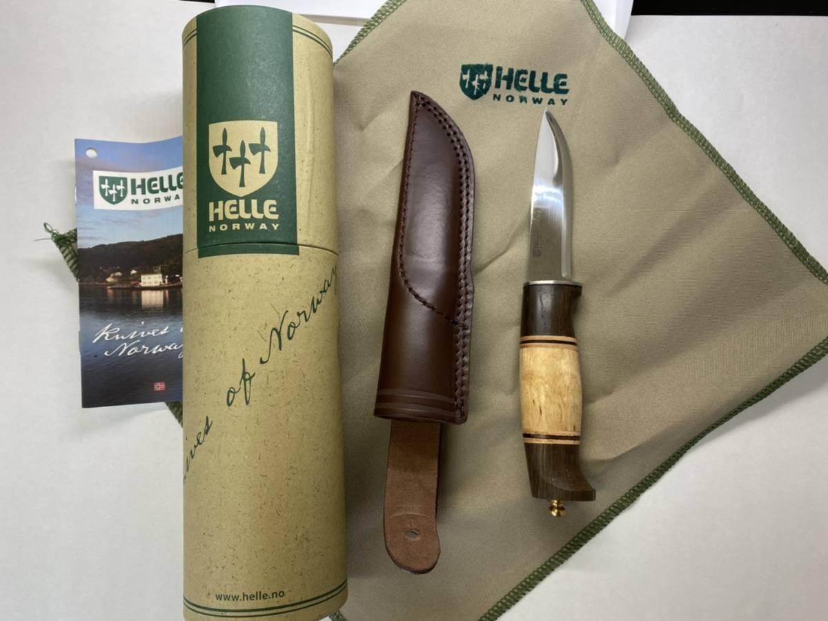 【送料込】HELLE harding ナイフ A 新品 ヘレナイフ ハーディング サバイバルナイフ 狩猟等 渓流 キャンプ ハンティングナイフ